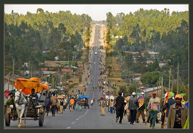 Sur la route éthiopienne