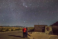 Rocio and Rich, Entrance of Big Bend National Park