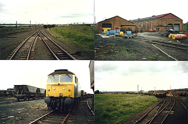 Class 47 Simonside wagon repair sheds. c 1986-87