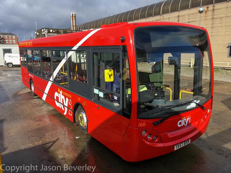 Plymouth Citybus 166 YY57BXB