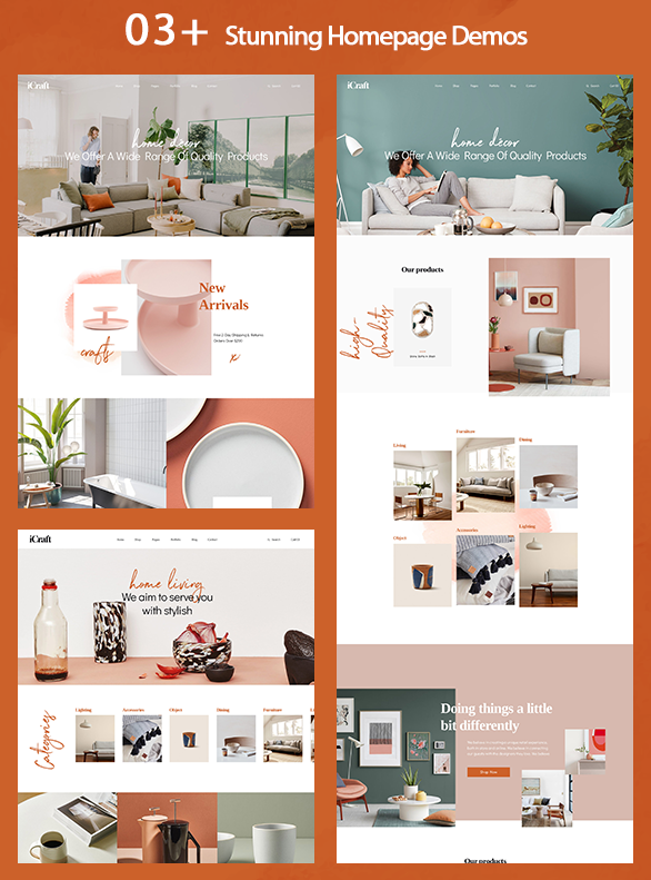 03 homepage demos-Leo ICraft Prestashop Furniture Theme