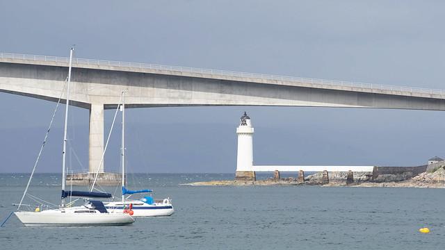 Isle of Skye Bridge and Kyleakin Lighthouse, Scotland