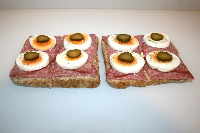 Salami Egg Toast