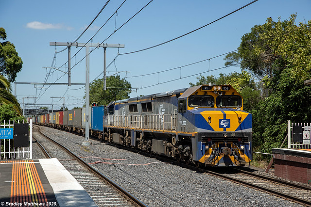 QUBE Maryvale Paper Freight at Oakleigh on 17/2/2020.