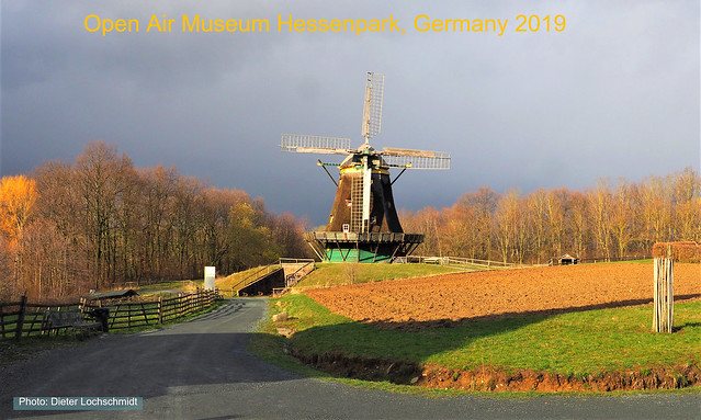 Wind Mill in the Open Air Museum Hessenpark in Germany