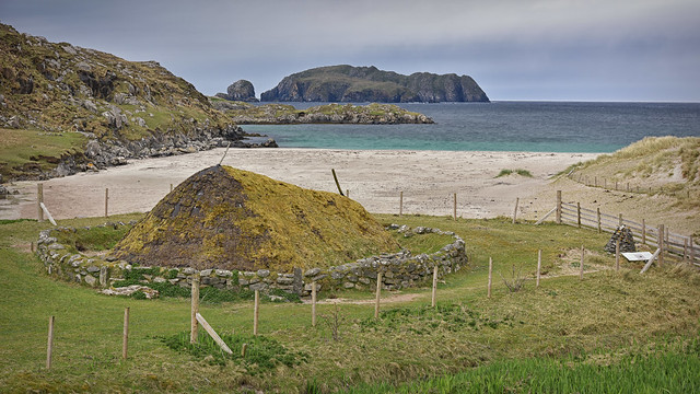 The Iron Age House.. Great Bernera..
