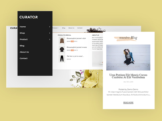 Leo Curator Fashion PrestaShop Template - Horizontal & Attractive Off Canvas Menu