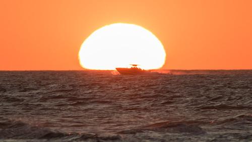 sanibel florida sunset gulf sea silhouette boat fl canon300mmf4l canont6s telephoto sanibelsunset oceansunset