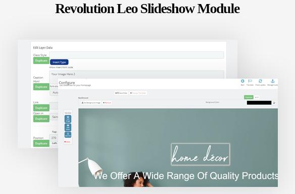 Revolution Leo Slideshow Module-Leo ICraft Prestashop Furniture Theme