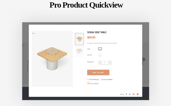 Product Quickview-Leo ICraft Prestashop Furniture Theme