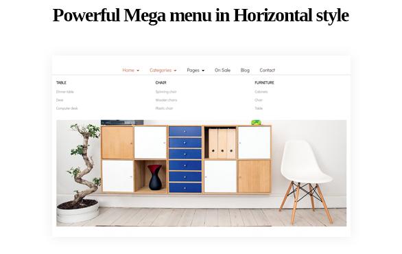 Mega menu-Leo ICraft Prestashop Furniture Theme