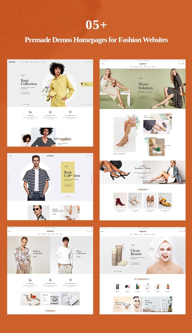 multiple prestashop clothing themes