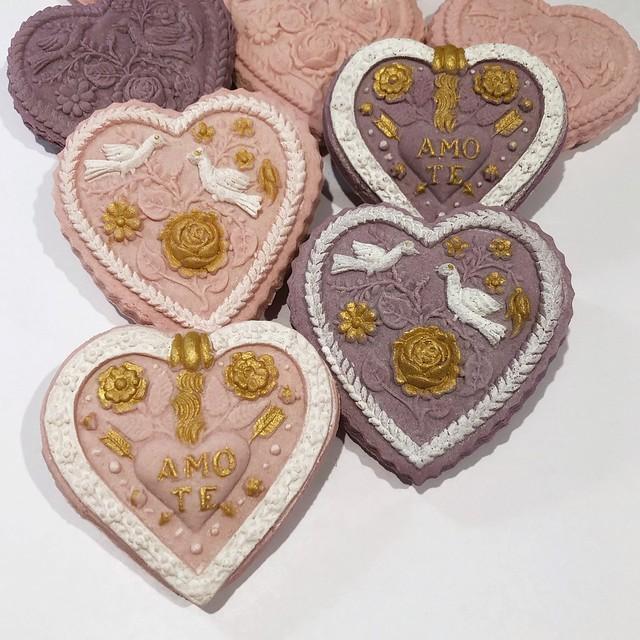 Heart Springerle Cookies