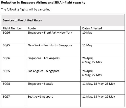 singapore airlines cancel us flights
