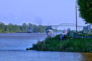Der Nord-Ostsee-Kanal bei Hohenhörn