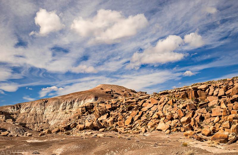 Low Boulder-Strewn Cliff