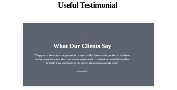 Useful Testimonial-Leo ICraft Prestashop Furniture Theme