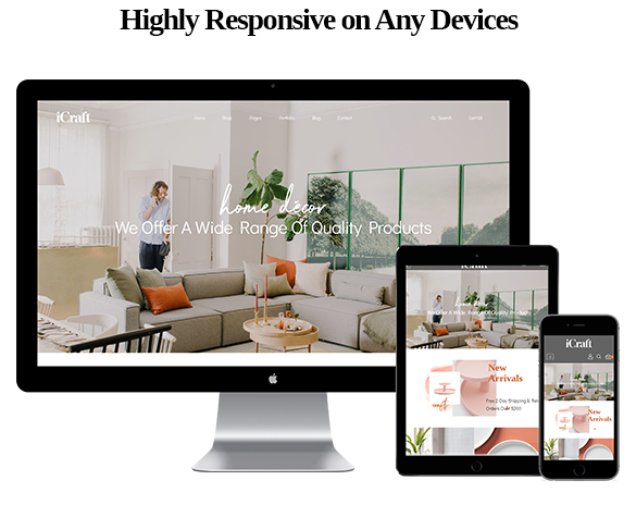 Highly Responsive on Any Devices-Leo ICraft Prestashop Furniture Theme