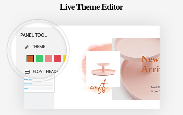 Live Theme Editor-Leo ICraft Prestashop Furniture Theme
