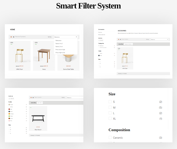 smart filter system-Leo ICraft Prestashop Furniture Theme