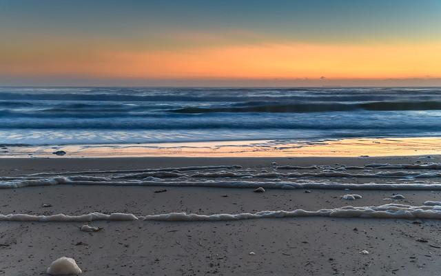 Sunrise Seascape and Sea Foam