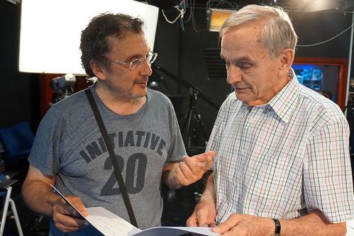 Andrés Garrigó con el director Antonio Cuadri