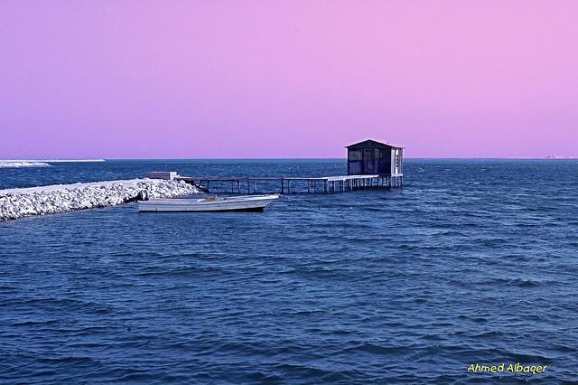 Sunny morning seascape بحــر الديــر الغربي ( البحـــرين )