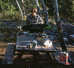 Camping at Lehman Creek, NV - 1976