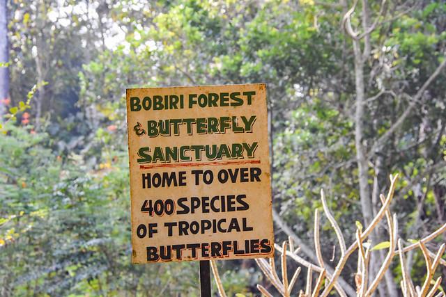 Bobiri Forest & Butterfly Sanctuary, sign