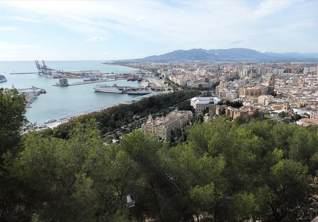 Panorámica de Málaga, puerto.