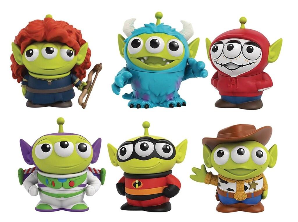 不用囉唆直接全收! MATTEL「迪士尼-皮克斯變裝三眼怪」(Disney-Pixar Alien Remix) 3 吋可動玩偶 包裝盒一併公開~
