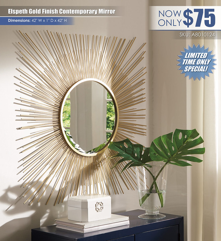 Elspeth Gold Finish Contemporary Mirror_A8010124