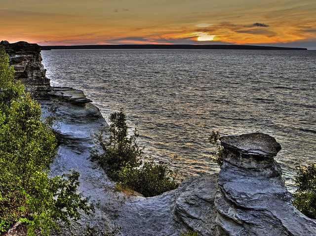 View from Miners Castle, Pictured Rocks National Lakeshore, Michigan