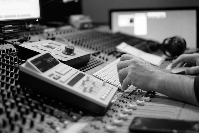 The sound engineers workspace