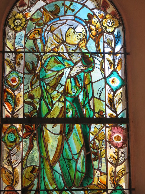 Reims, Stained glass in Notre-Dame-de-la-Paix - Foujita chapel [Explore 18/02/2020]