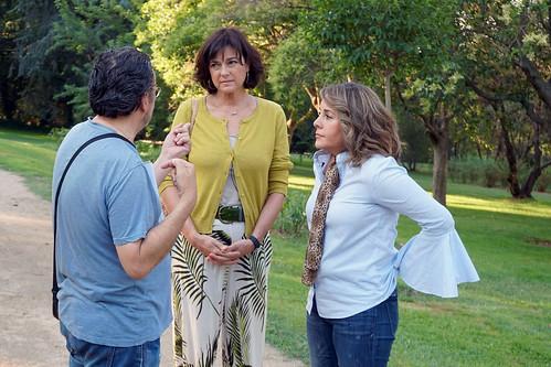 Maria Vallejo -Nágera con Karyme Lozano