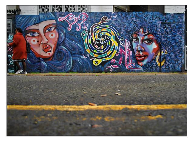 LONDON STREET ART by ELNO,PIXIE & CARLEEN DE SOZER.
