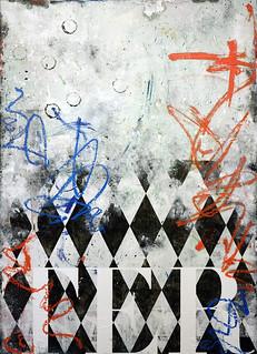 Zavier Ellis 'Black Terror', 2019 Oil, oil bar, acrylic, house paint, spray paint, pencil, collage on birch ply 165x120cm