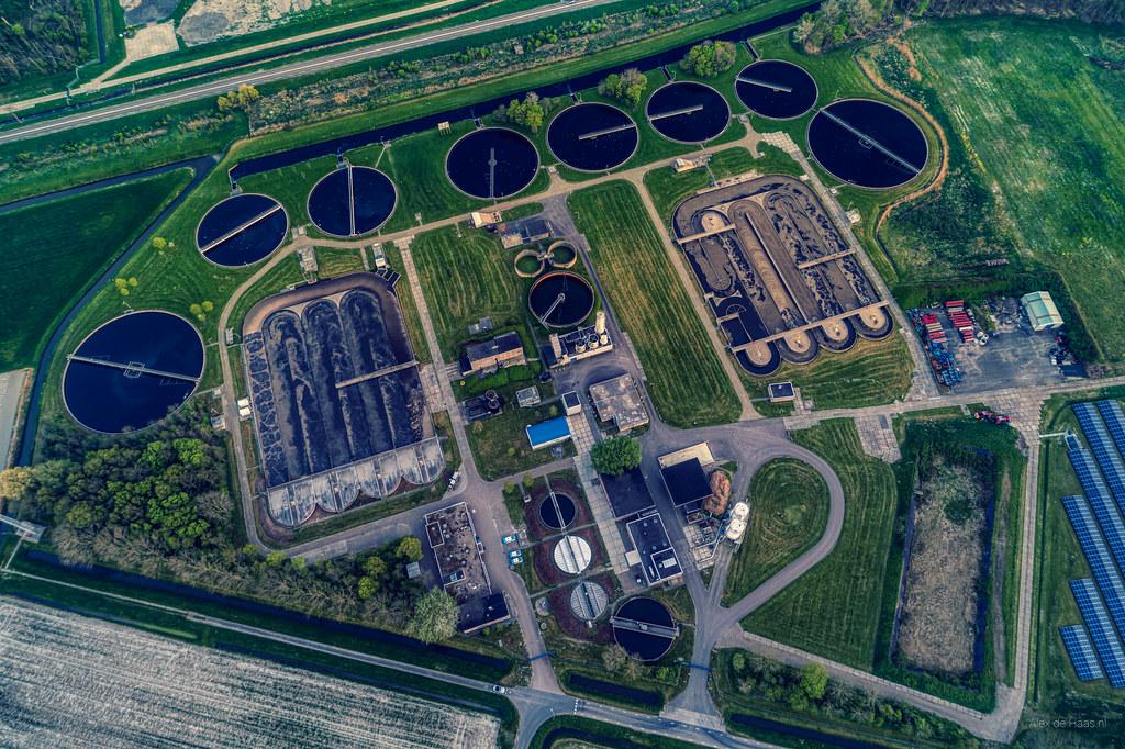 Sewage treatment plant. HHNK RWZI Geestmerambacht.