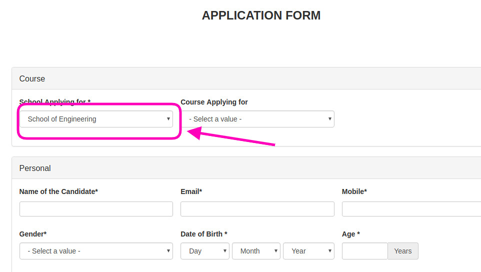 OP Jindal University Application Form