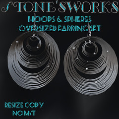 Hoops & Spheres Earring Set Stone's Works