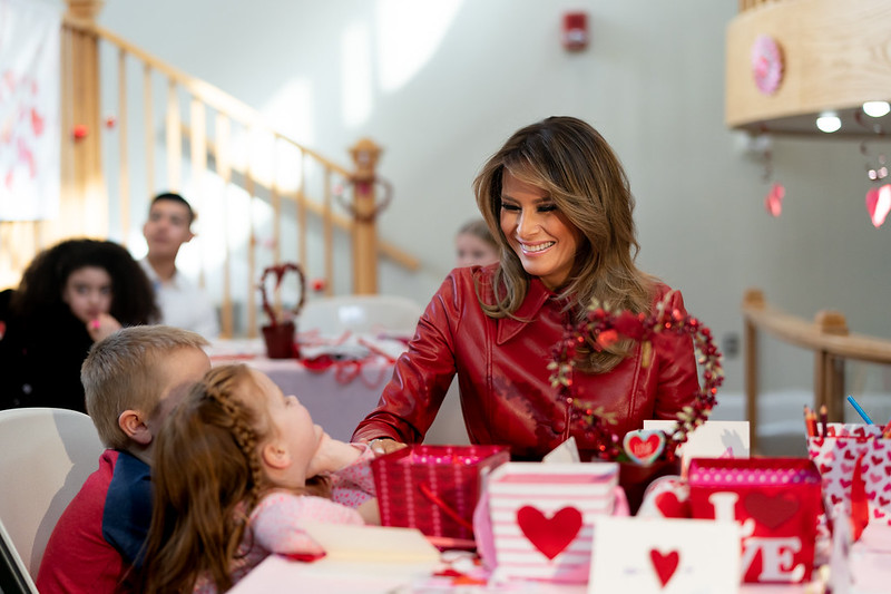 First Lady Melania Trump Visits the Children's Inn at the National Institute of Health