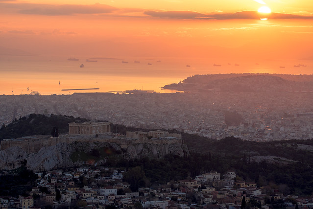 Acropolis by the sunset
