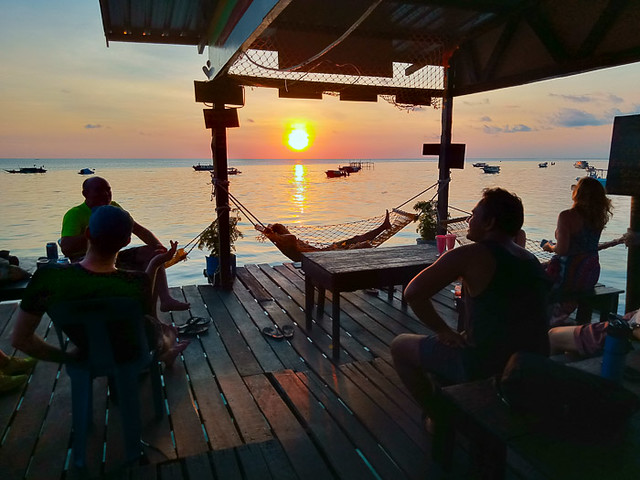 Sunset at Pulau Mabul