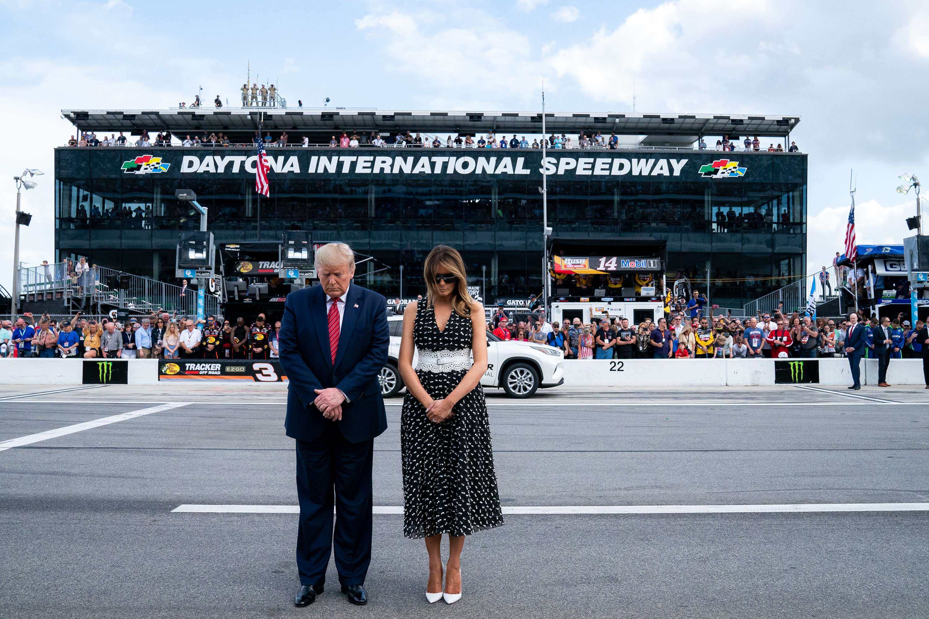 President Trump and the First Lady at the NASCAR Daytona 500 Race