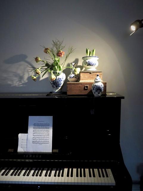 Piano styling ideeën met Delfts Blauw