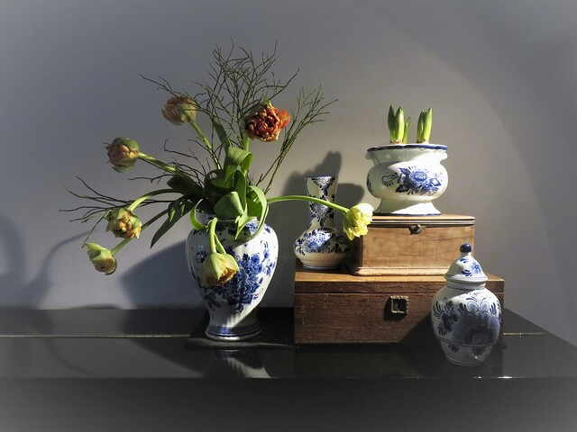 Piano decoratie Delfts Blauw