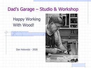 """""""Shop Layout""""  Dan Holowicki 2020-- March 2020 Newsletter"""