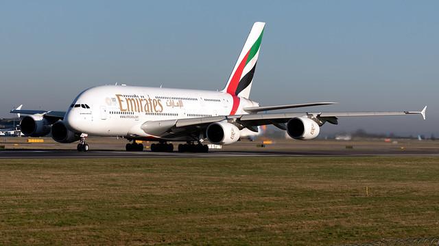 Emirates A6-EDJ A380-861 EGCC 07.02.2020