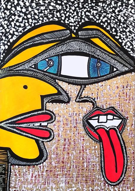 ציור רדיקלי אמנות רדיקלית מודרני ישראלי עכשווי מירית בן נון ציירת אמנית